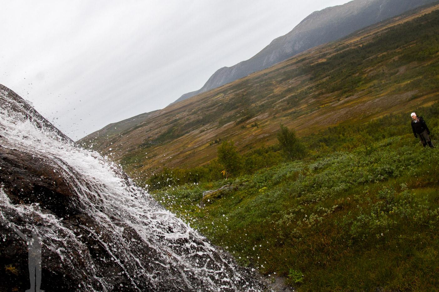 Vattenfall vid Kyrkstenen i Vålådalen