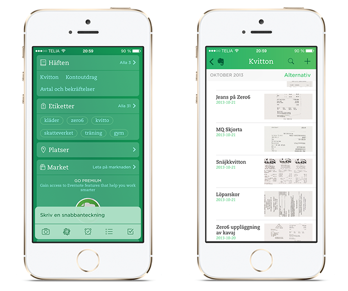Evernote iOS7
