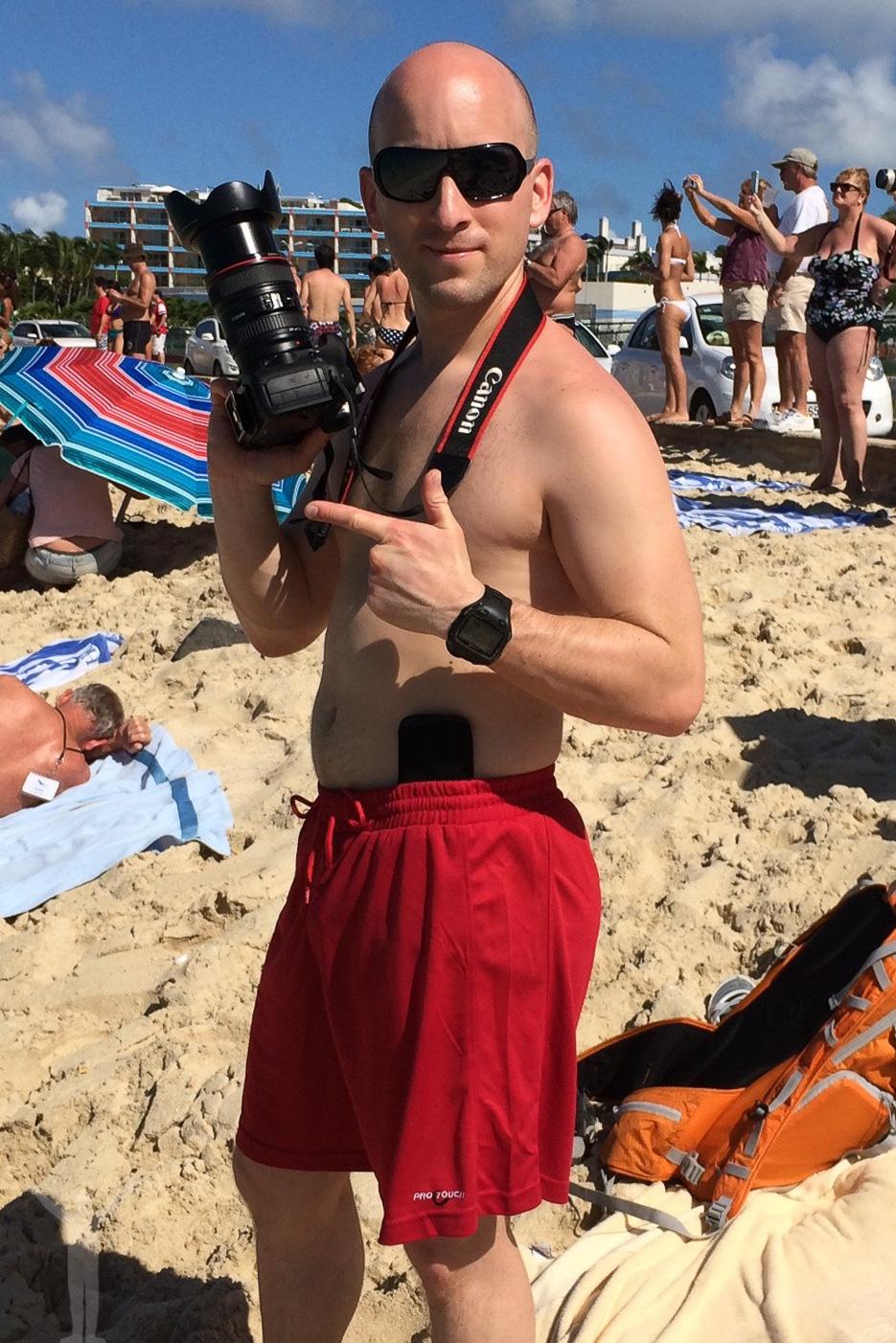 Dryden på Maho Beach