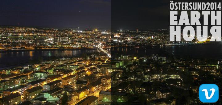 Earth Hour 2014 Östersund