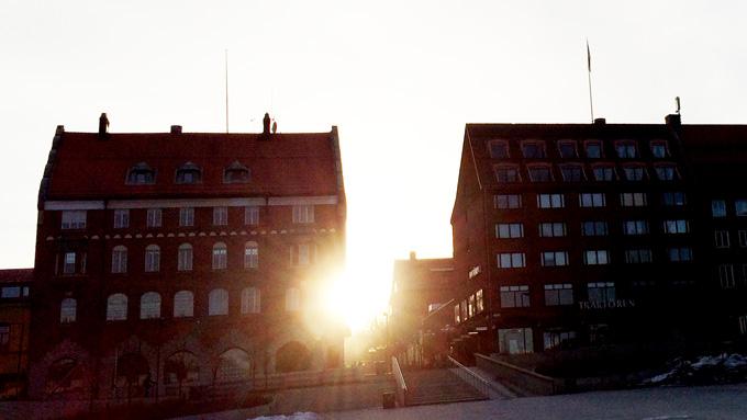 Östersund stadssiluett