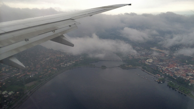 Frösön och Östersund från luften