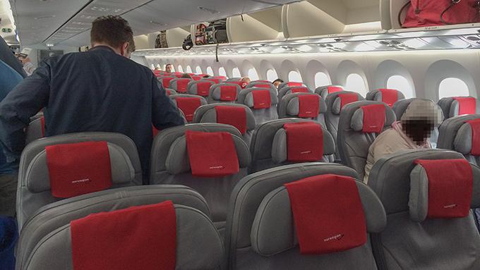 Norwegian 787 Dreamliner interiör