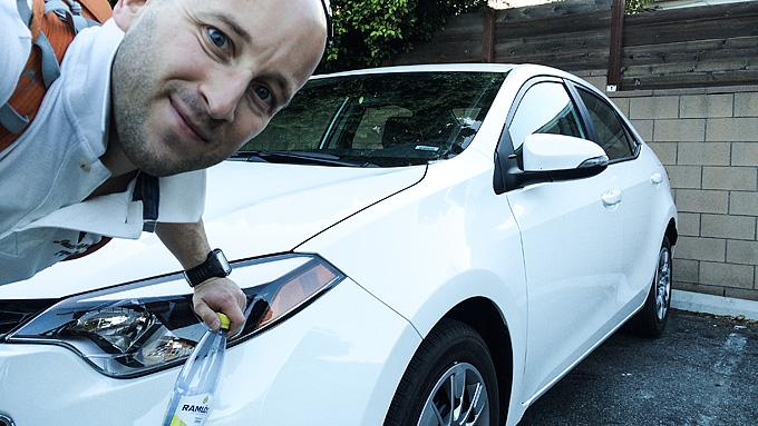 Dryden, bil och LA