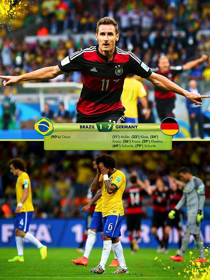 Brasilien - Tyskland 1-7