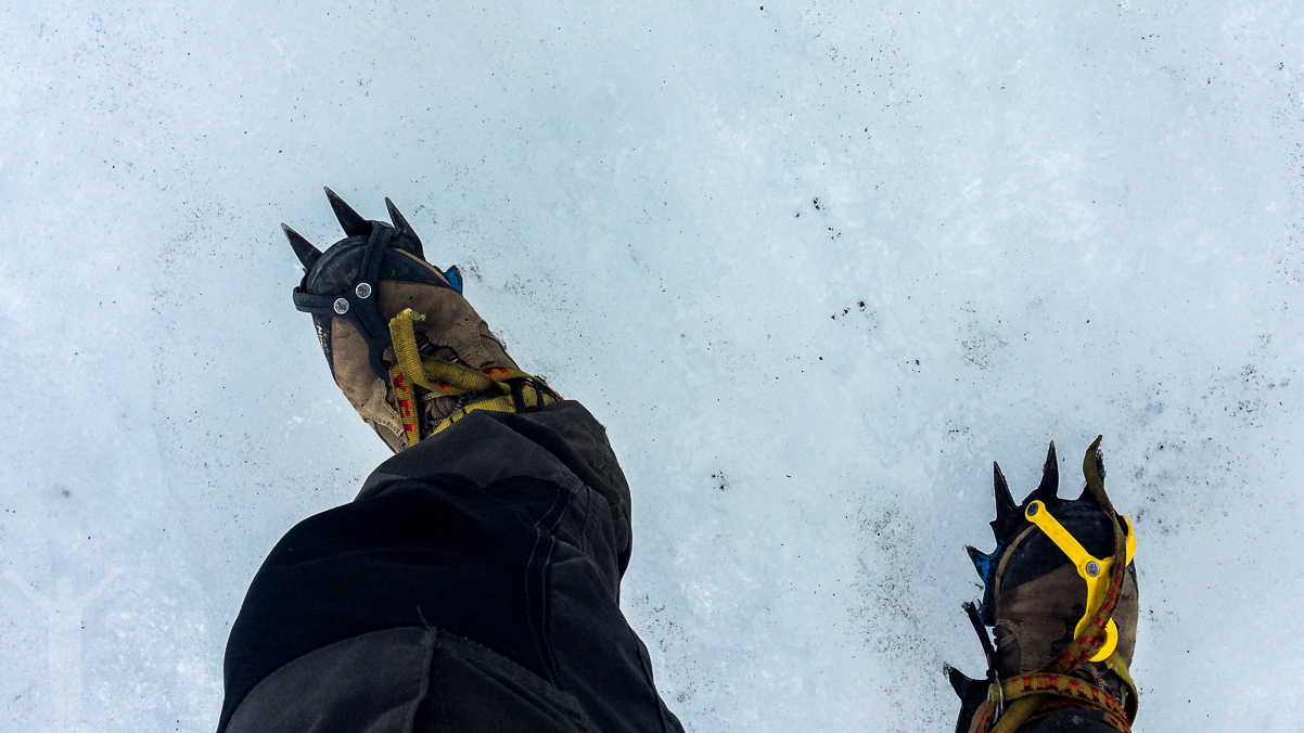 Stegjärn på glaciären