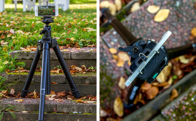 Velbon UltraRexi Tripod & iPhone
