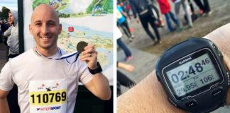 Medalj och GPS-klocka efter Lidingöloppet