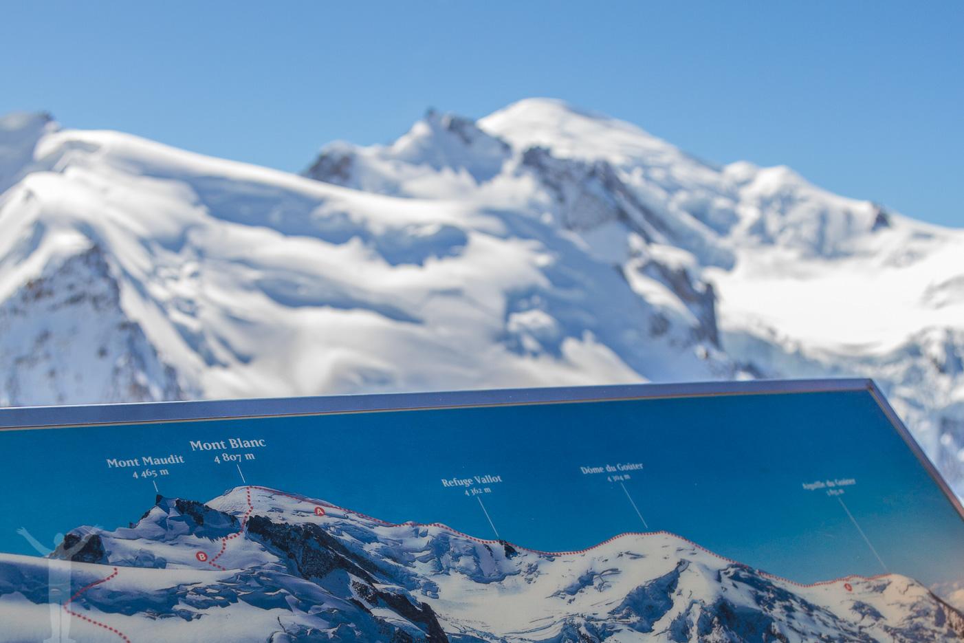 Utsikt över Mt Blanc