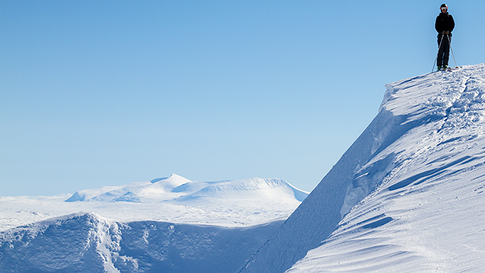 Martin på toppen av Sönner-Tväråklump