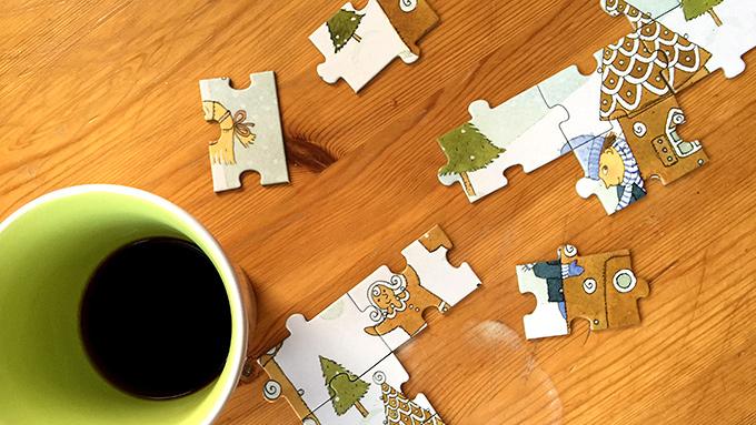 Kaffe och pussel