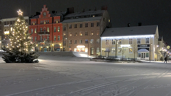 Stortorget i Östersund - vinterskrud