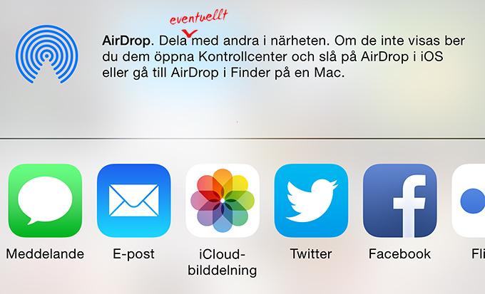 iOS och Airdrop