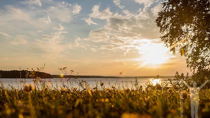 Solnedgång i Raftälven