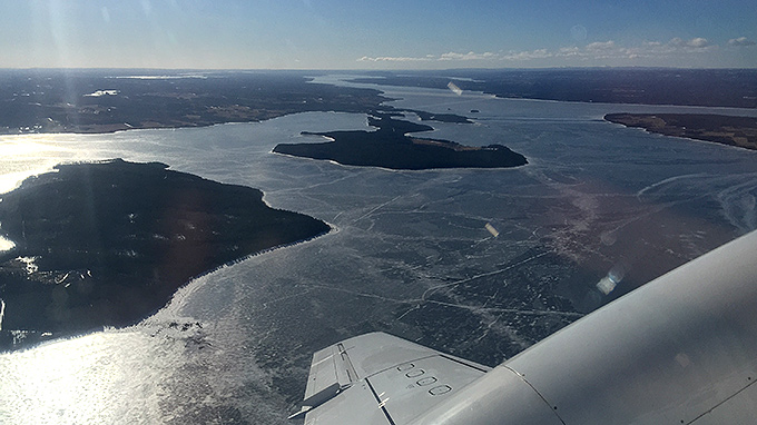 Take off över Storsjön