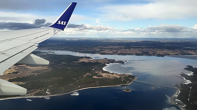 SAS flight mot Arlanda