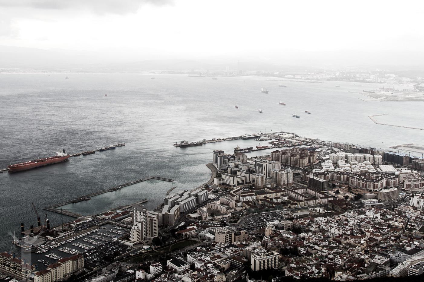 Utsikt över Gibraltar