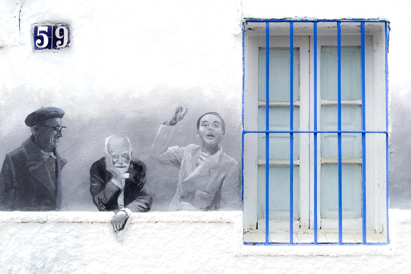 Väggmålning i Nerja