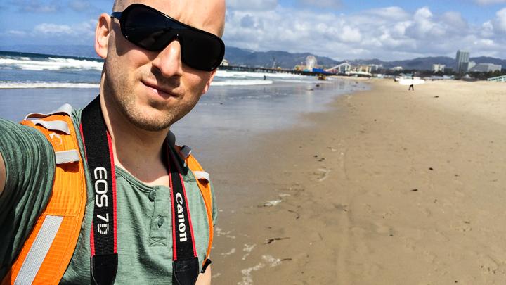 På Santa Monica Beach