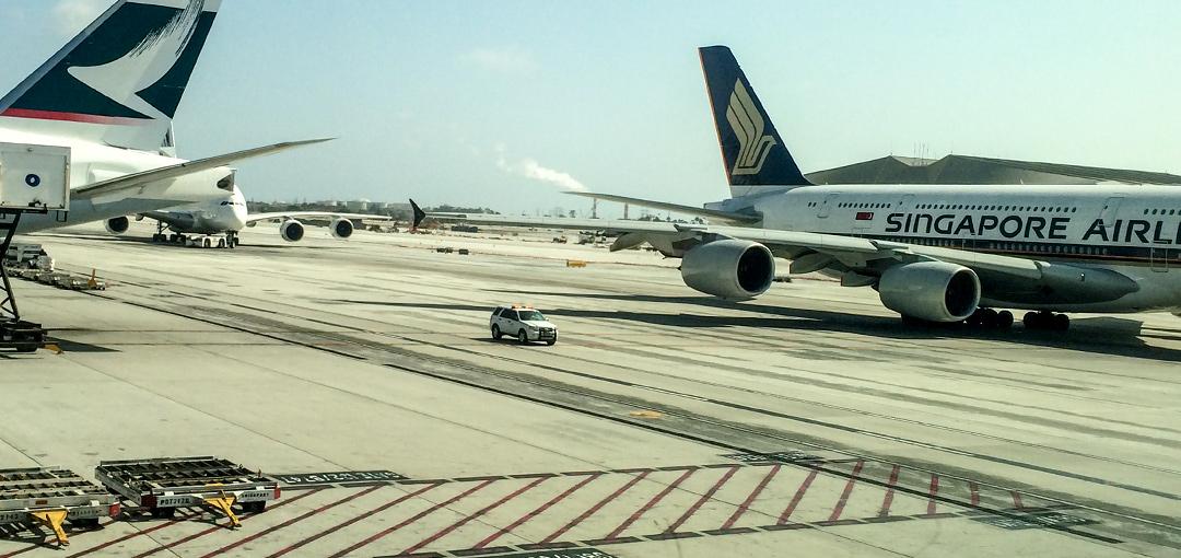 SIA A380 at LAX