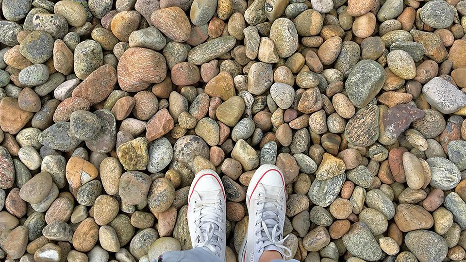 På klipporna