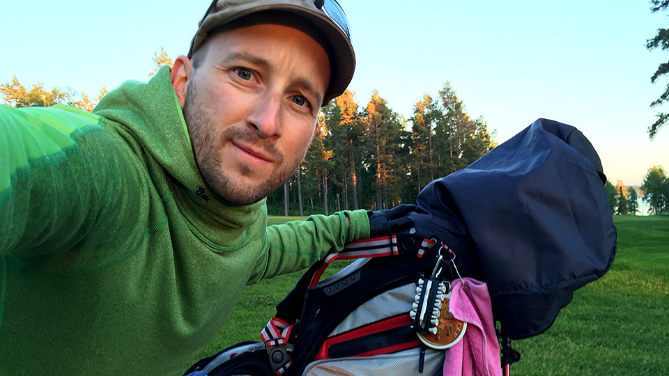 Golf-selfie