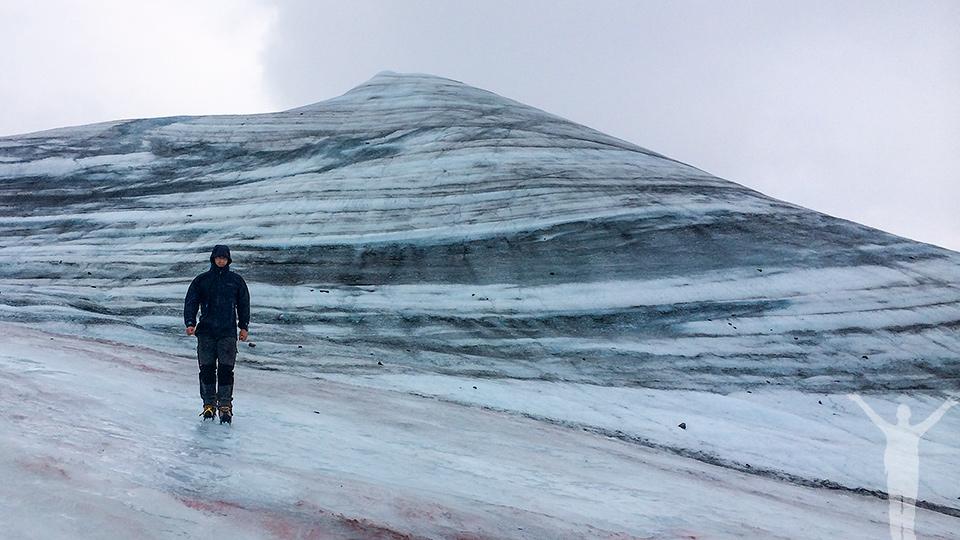Att bestiga Kebnekaise - här är dess sydtopp och dess glaciär.