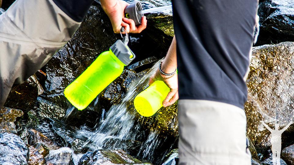 Fyll på med vatten där det är möjligt.