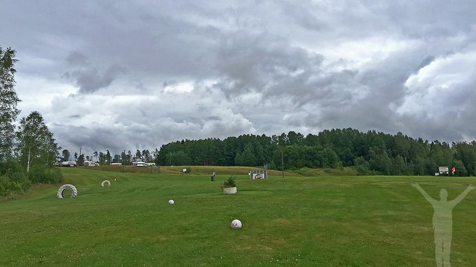 Fotbollsgolf på Lane Loge - de sista fem hålen