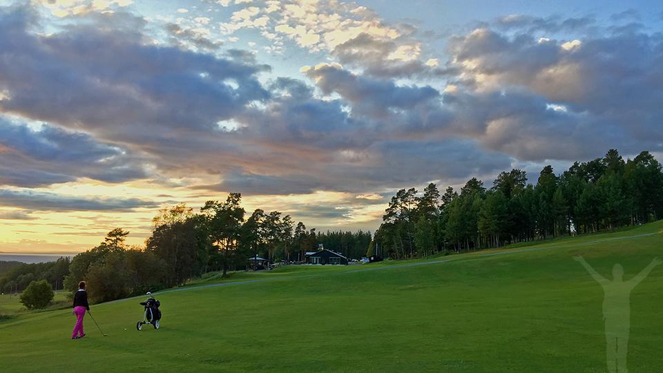 18:e hålet på Frösöns golfbana