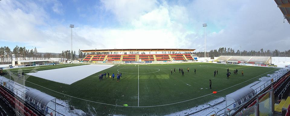 Jämtkraft Arena i vinterskrud