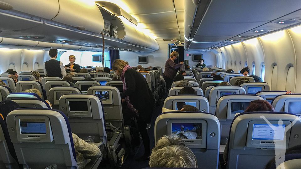 Lufthansa A380 - ekonomiklass