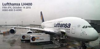 Lufthansa A380 FRA-JFK