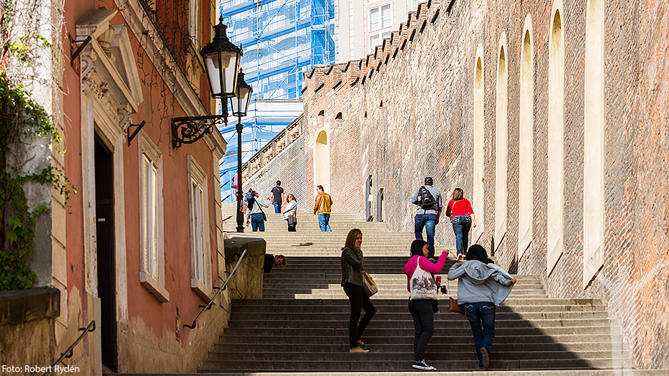 Steps to the Prague Castle