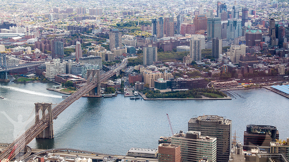 Brooklyn Bridge och Brooklyn Heights