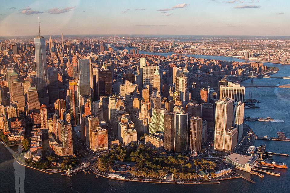 New York suger - även från sidan.