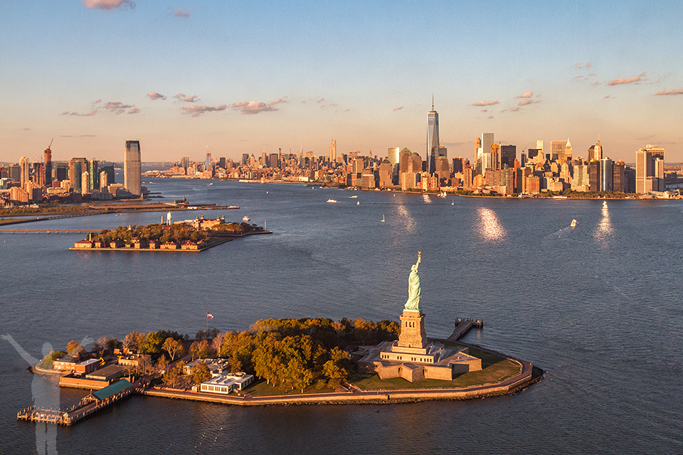 Helikoptertur över New York