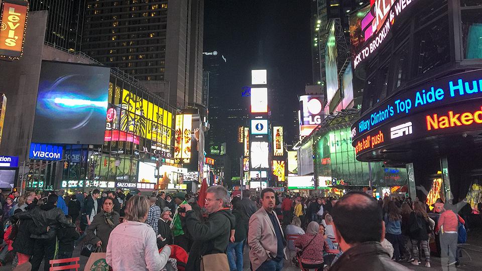 Times Square - aldrig folktomt