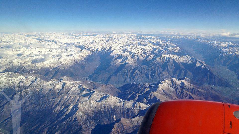 SAS takeoff från Linate