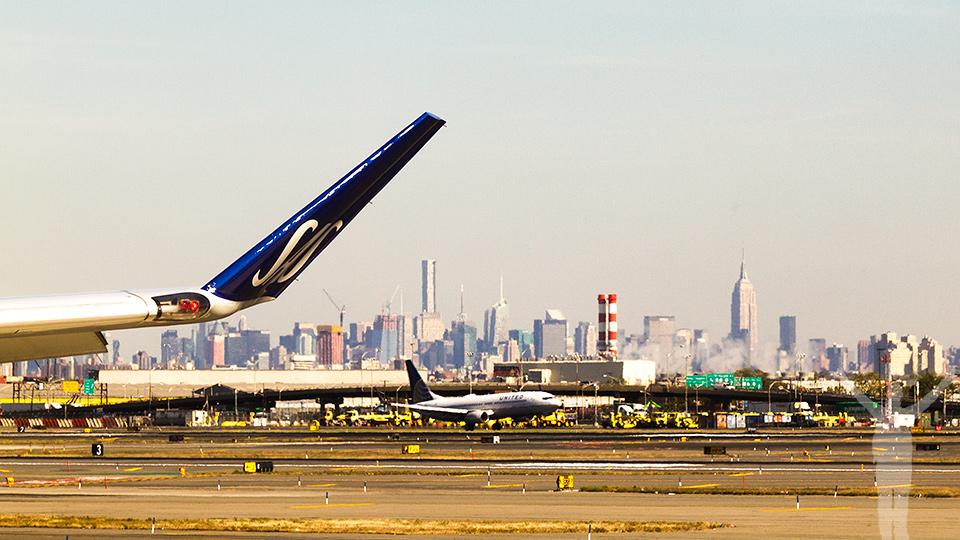 Om att flyga från Newark
