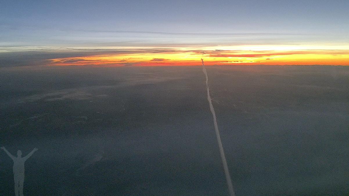Soluppgång på 41000 fot
