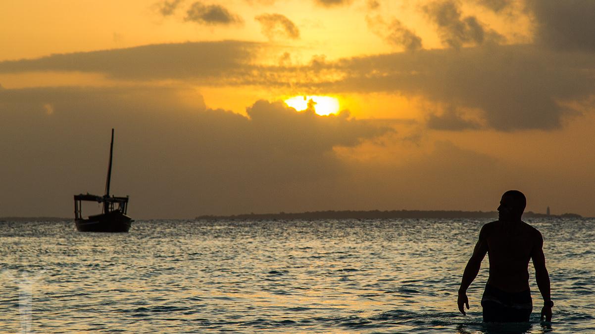 Solnedgång, Nungwi, Zanzibar