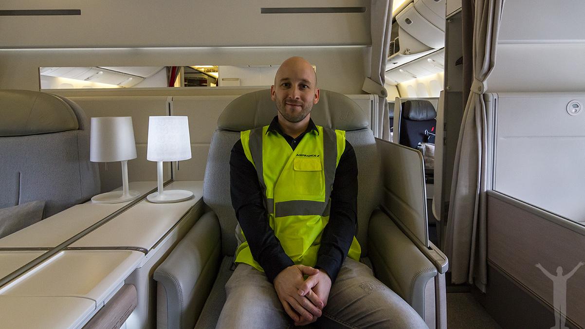Jag i La Premiere i en 777-300ER