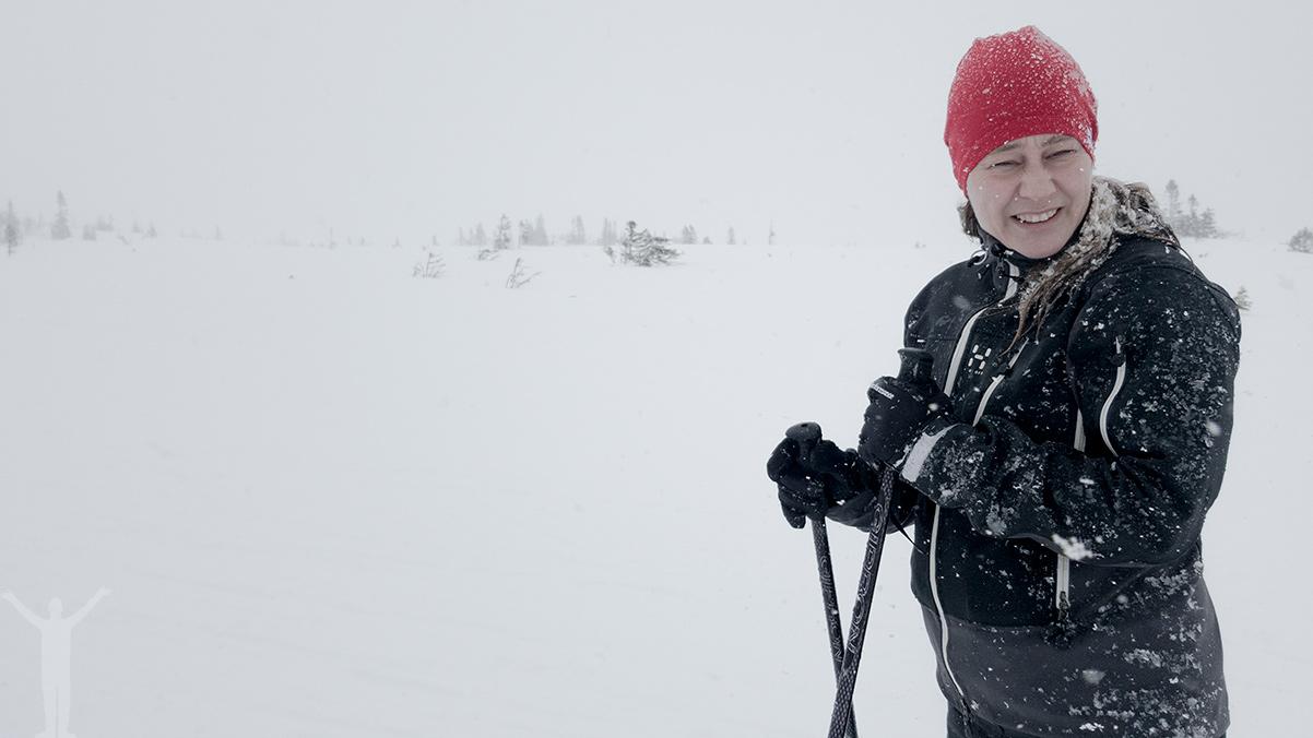 Bitigt vårvinterväder i Jämtland