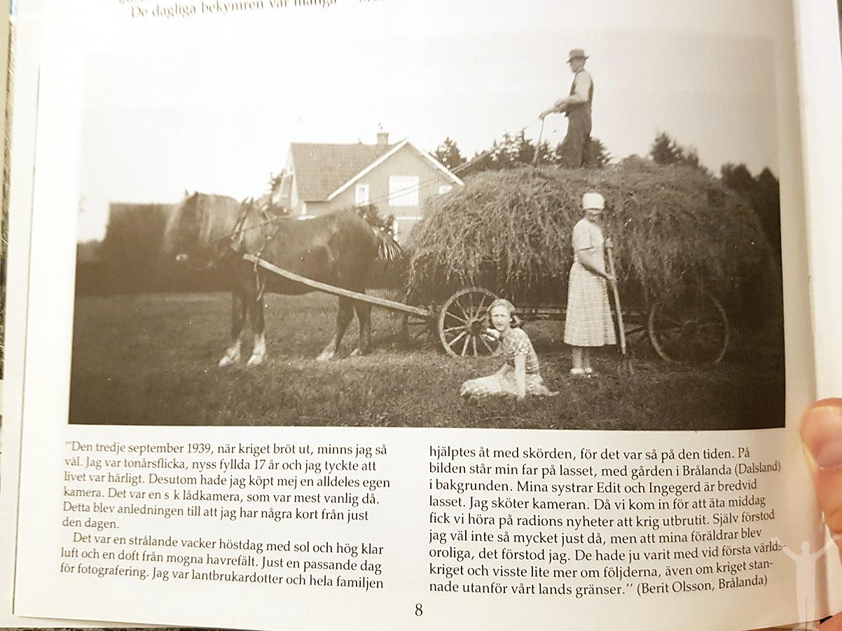 En tidsresa till Ristorp 1 utanför Brålanda, Familjen Erlandsson i september 1939