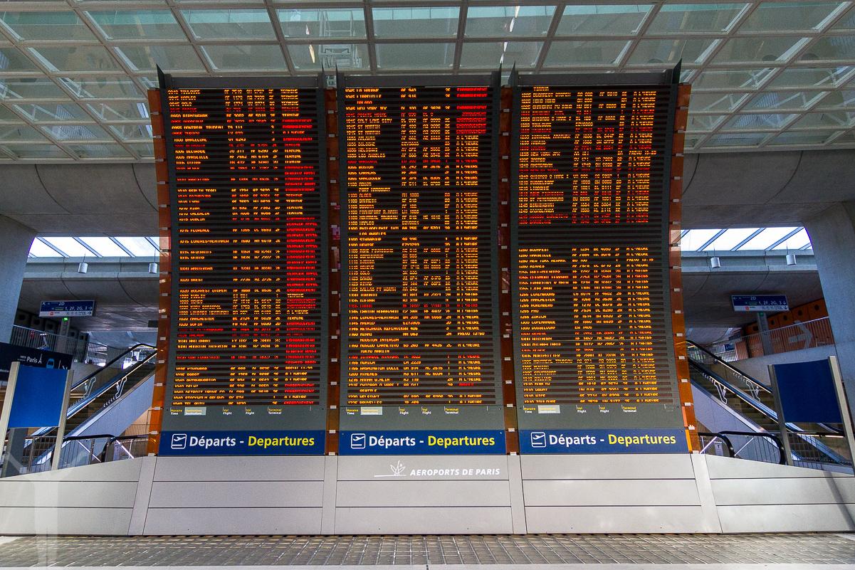 Avgångarna på en av världens största flygplatser