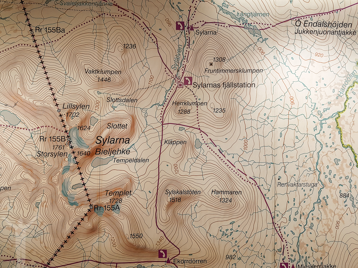 Karta över Sylarna