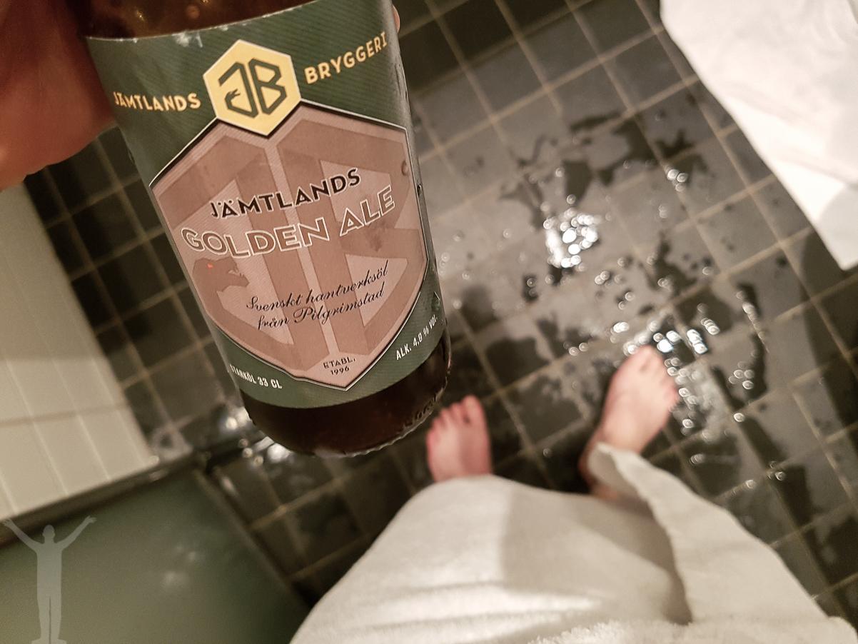En dusch och en öl