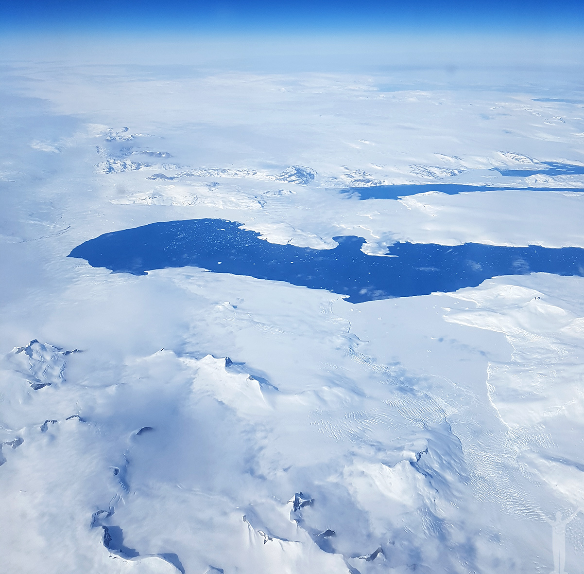 LH470 över Grönland