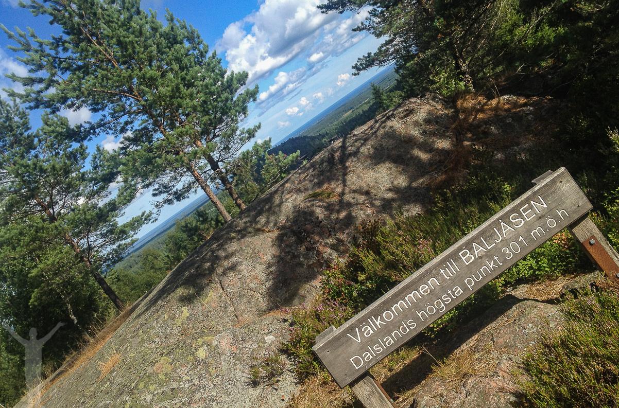 Baljåsen, Dalslands högsta punkt
